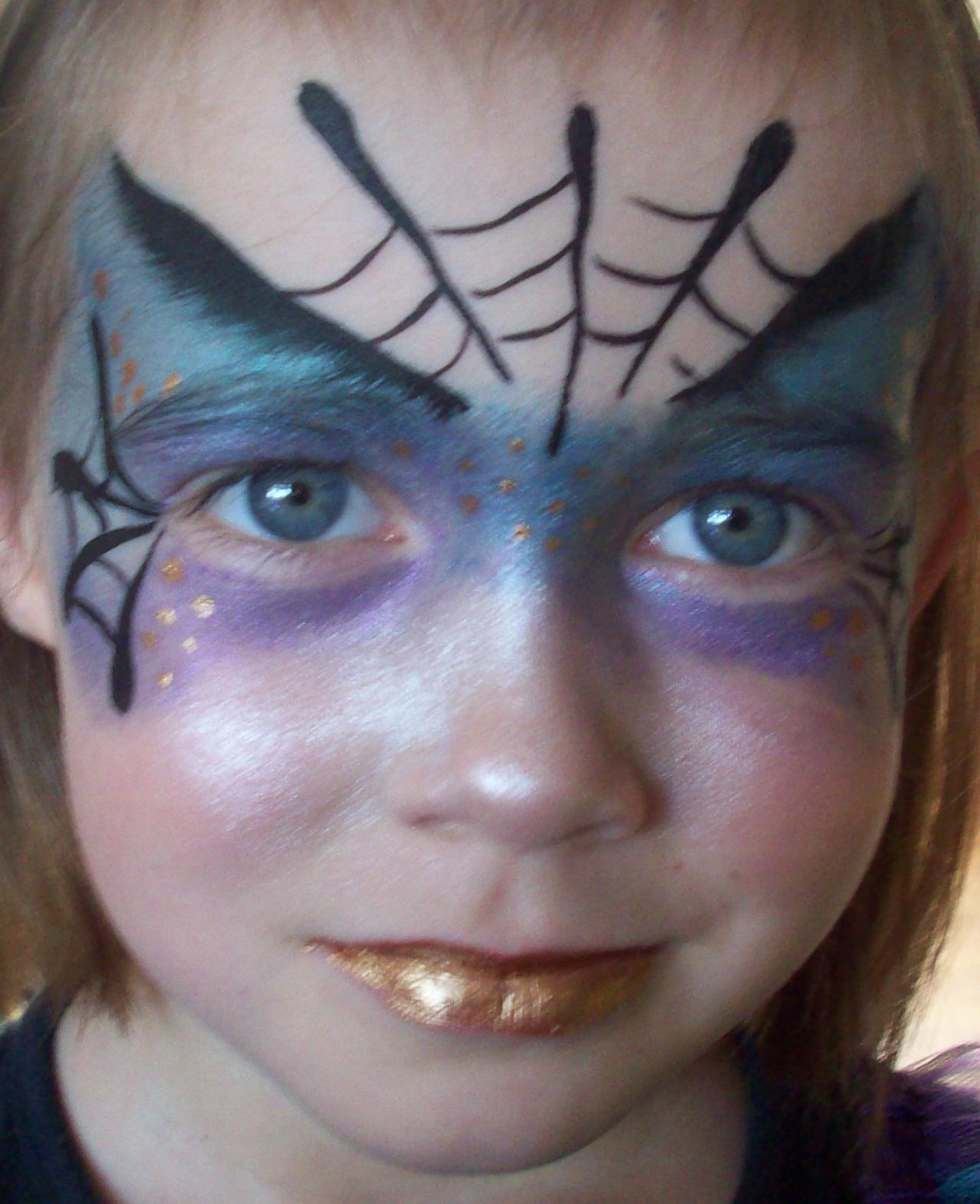 Uncategorized Halloween Witch Face Paint Ideas face painting by claire spider witch